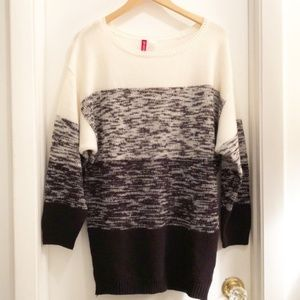 H&M Divided Sweater Heathered Black/White Small